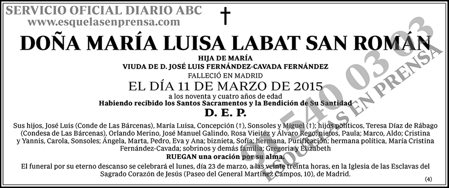 María Luisa Labat San Román